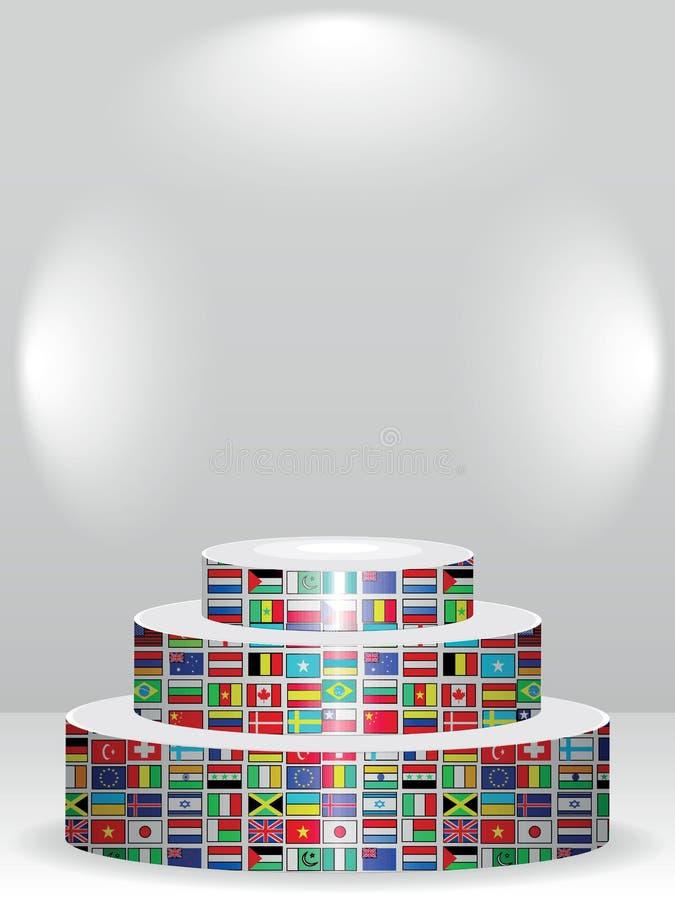 Podiume global illustration stock