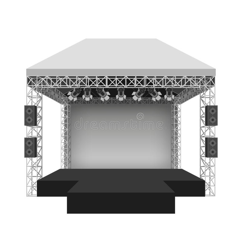 Podiumkonsertetapp också vektor för coreldrawillustration stock illustrationer