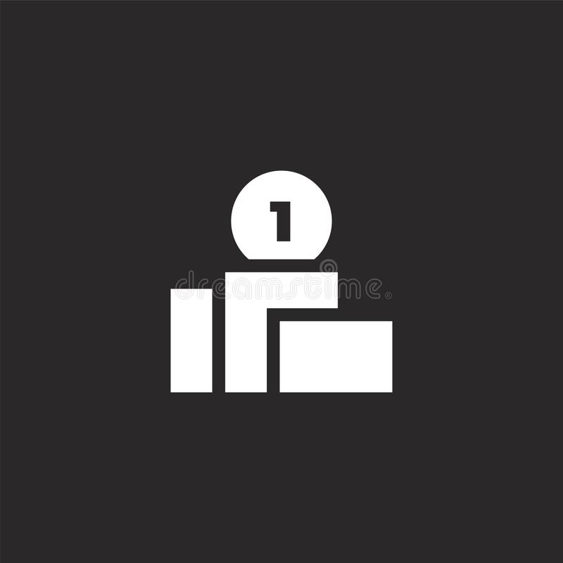 Podiumpictogram Gevuld podiumpictogram voor websiteontwerp en mobiel, app ontwikkeling podiumpictogram van gevulde beheersinzamel vector illustratie