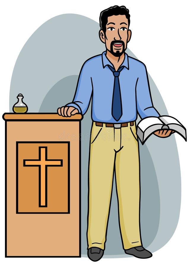 podiumpreacher stock illustrationer