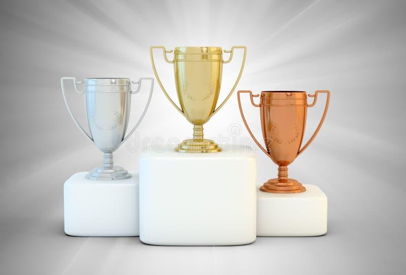 podiumsportar vektor illustrationer