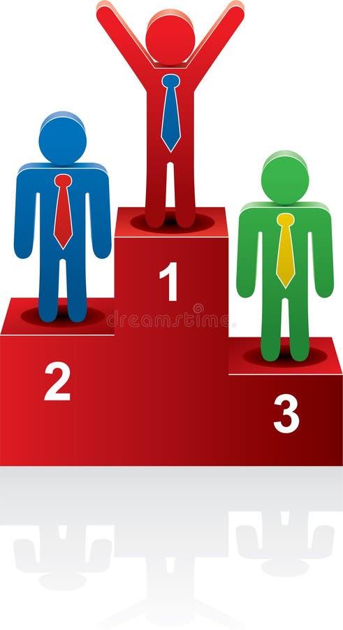 podiumvinnarear royaltyfri illustrationer