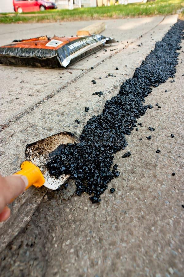 podjazdu asfaltowy podesłanie obraz stock