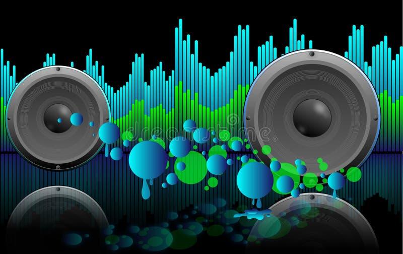 podkład muzyczny abstrakcjonistyczni mówcy obraz royalty free