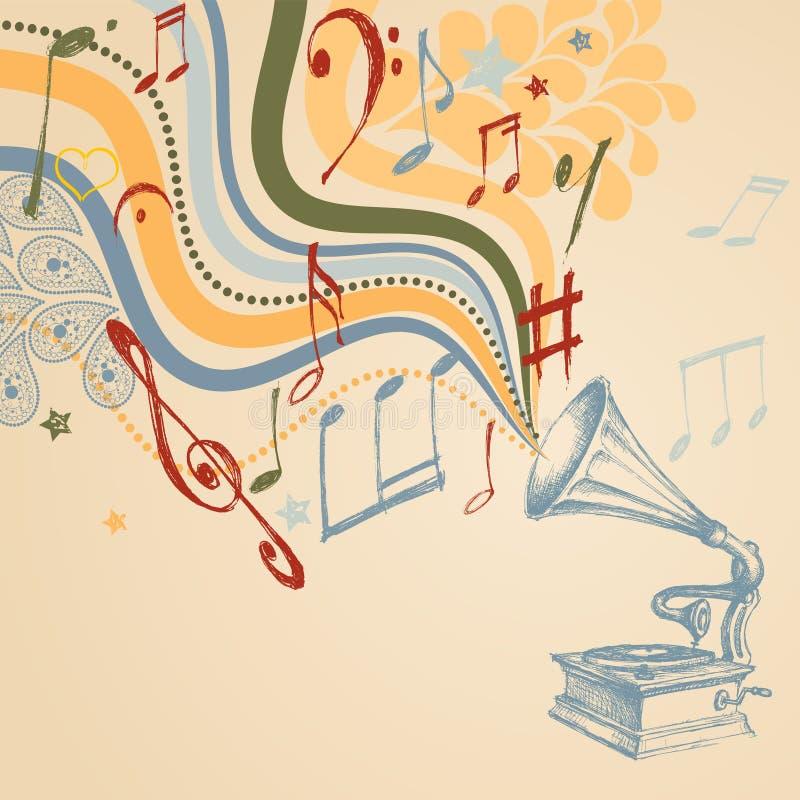 podkład muzyczny retro ilustracja wektor