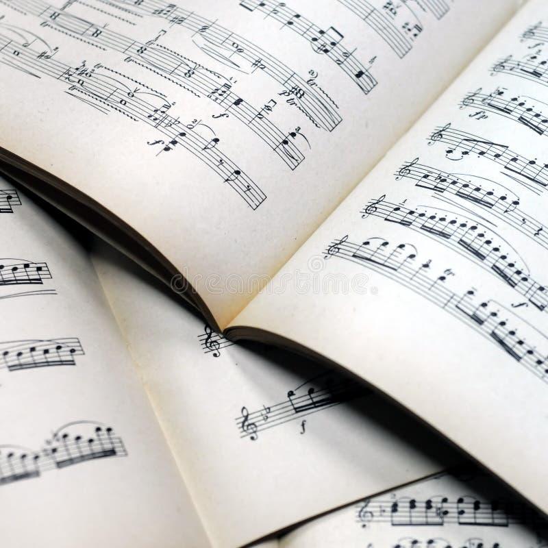 podkład muzyczny uwagi fotografia stock