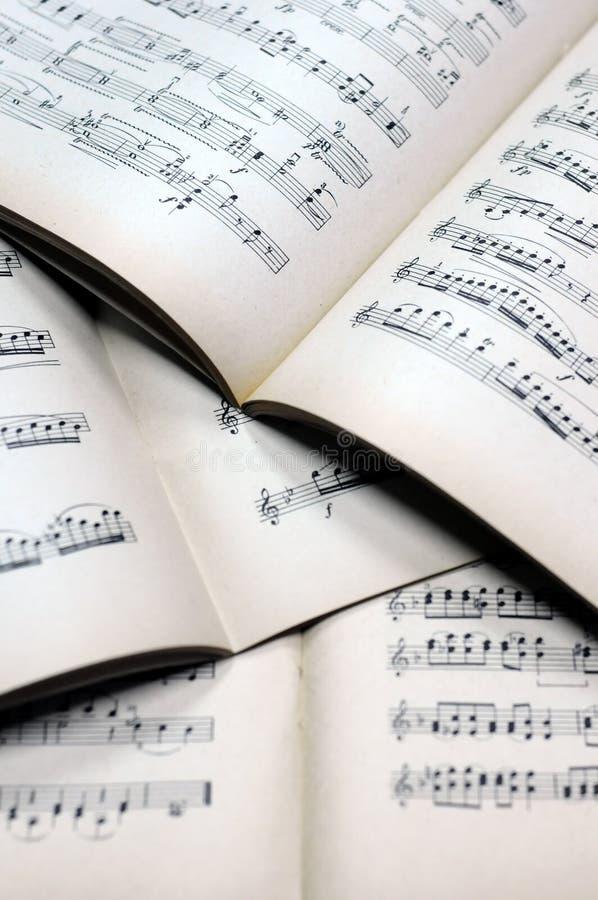 podkład muzyczny uwagi obrazy stock