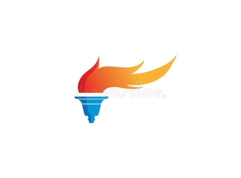 Podkłada ogień symbolu ogienia dla logo projekta ilustracji i płonie ilustracji