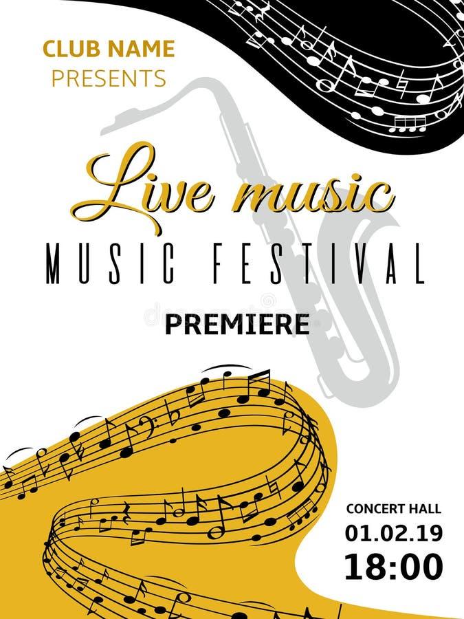 podk?ad muzyczny uwagi Abstrakcjonistyczny zawijas fali muzykalnej notatki treble clef harmonii klepki muzyki klasycznej festiwal ilustracja wektor