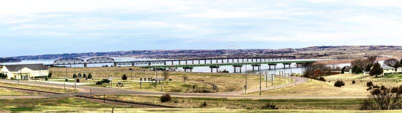 Podkomorzego Missouri i most zdjęcie royalty free