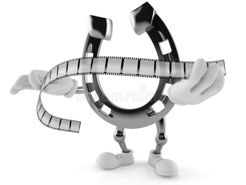 Podkowa charakteru mienia filmu pasek ilustracja wektor