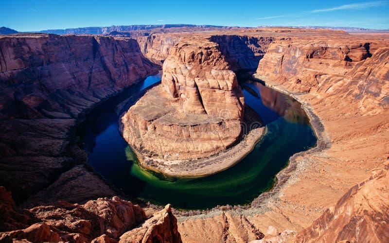 Podkowa chył przy stroną, Arizona obraz stock