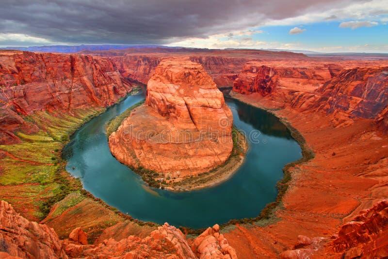 Podkowa chyłu Kolorado rzeka fotografia stock