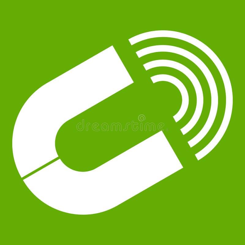 Podkowa magnesu ikony zieleń ilustracji