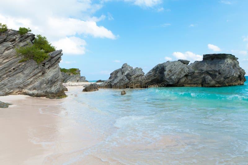 Podkowy zatoki plaża w Bermuda zdjęcie royalty free