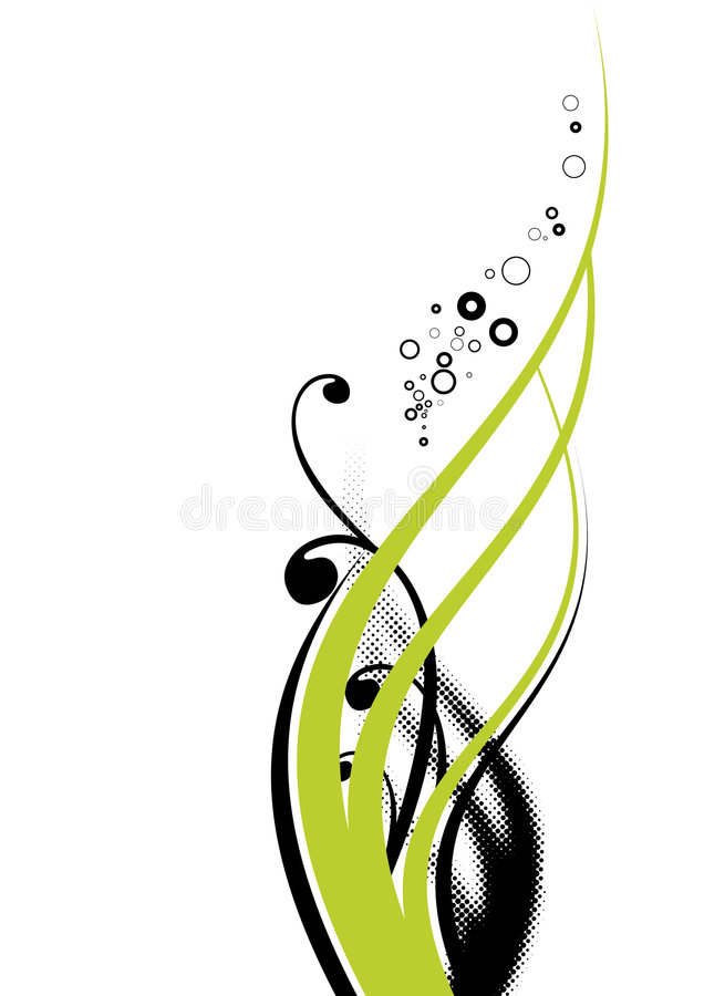 podkręć kwiecistą green ilustracja wektor