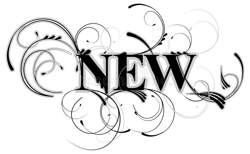 podkręć nowego banner royalty ilustracja