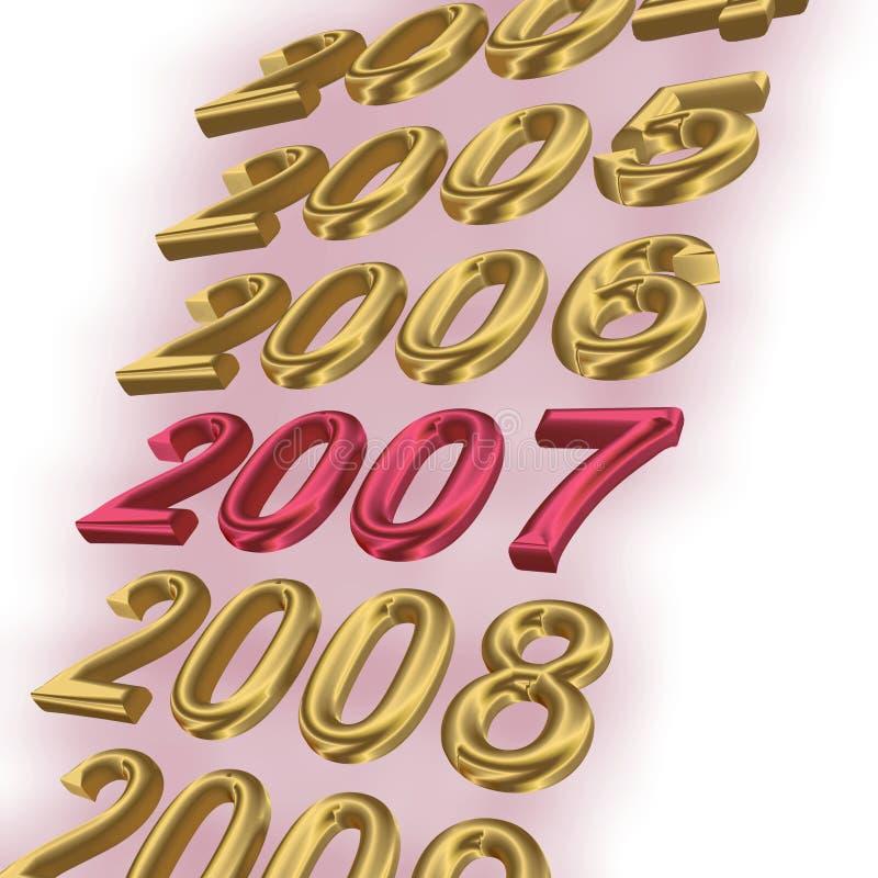 podkreślono 2007 royalty ilustracja