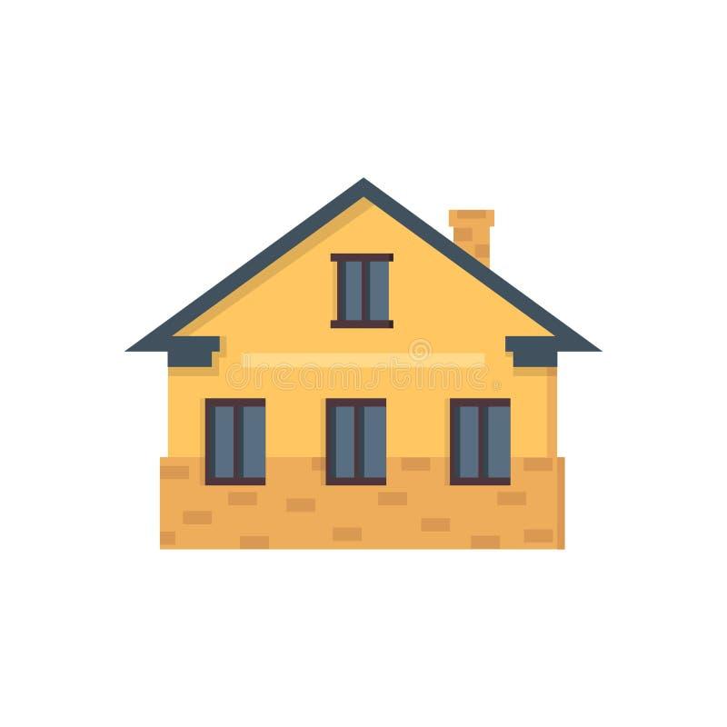 Podmiejski intymny dom Mieści powierzchowność Wektorowa miastowa budynek ikona ilustracja wektor