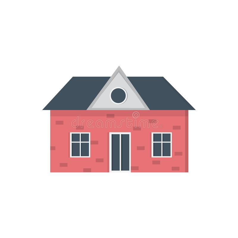 Podmiejski intymny dom Mie?ci powierzchowno?? Wektorowa miastowa budynek ikona ilustracja wektor