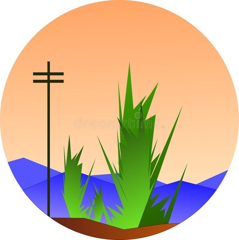 Podmiejski Krajobrazowy wektor royalty ilustracja