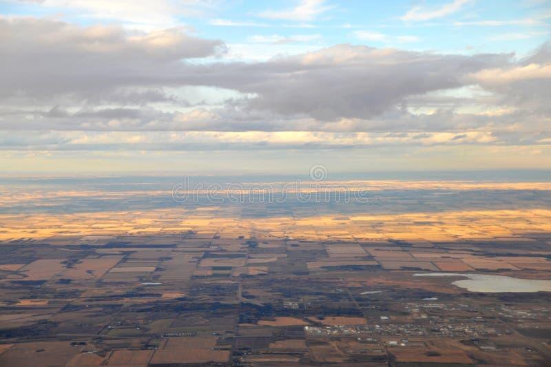 podmiejski lotniczy Edmonton zdjęcie royalty free