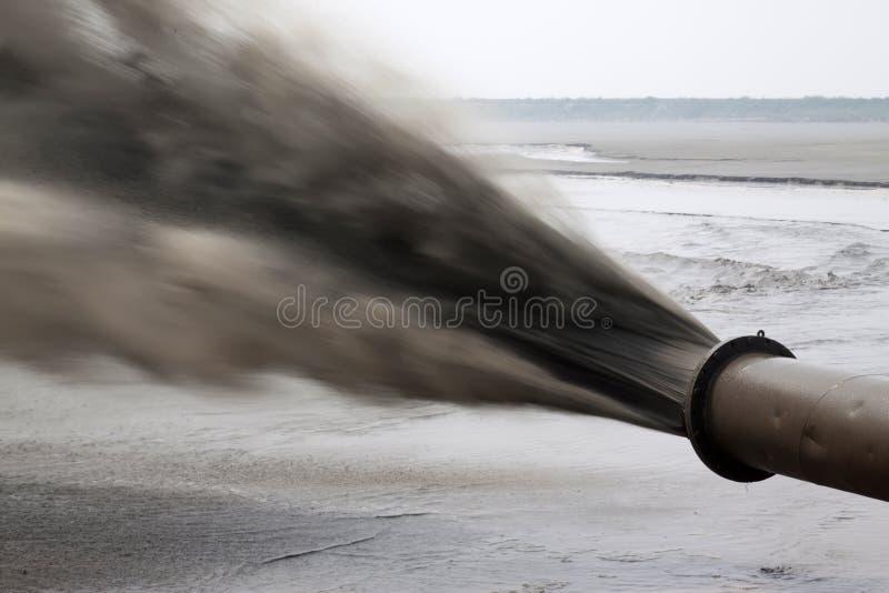 Podmuchowy piasek zrobił gruntowej inżynierii morzem obrazy royalty free