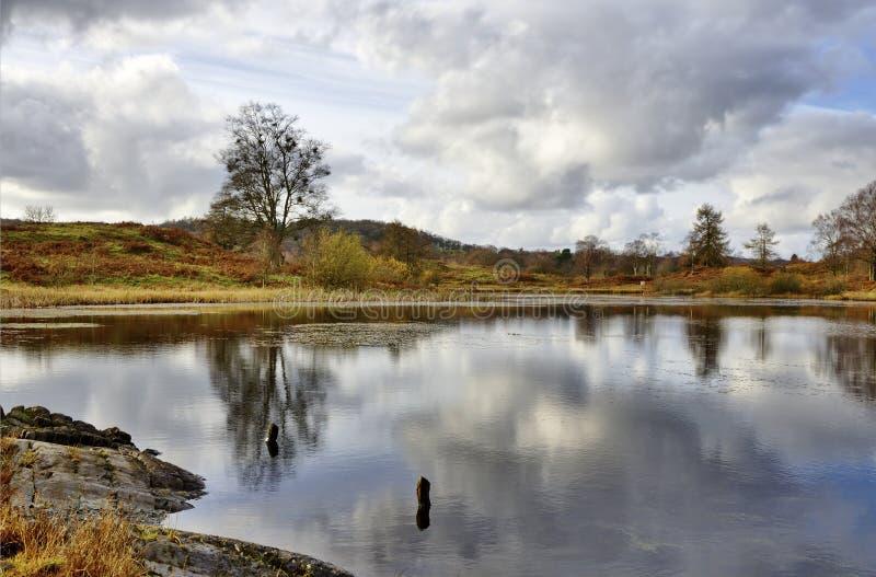 Podnet Tarn στη Winster κοιλάδα, Cumbria στοκ φωτογραφία με δικαίωμα ελεύθερης χρήσης
