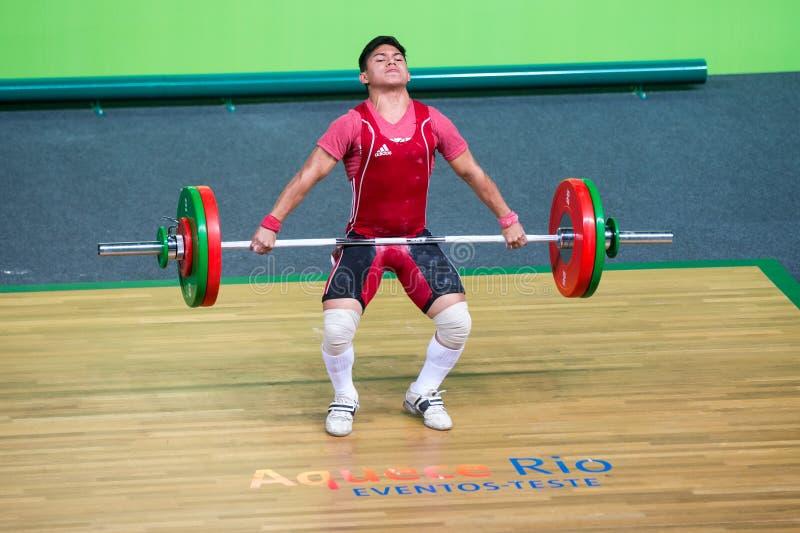 podnośnego mężczyzna mięśniowy wektorowy ciężar zdjęcie stock