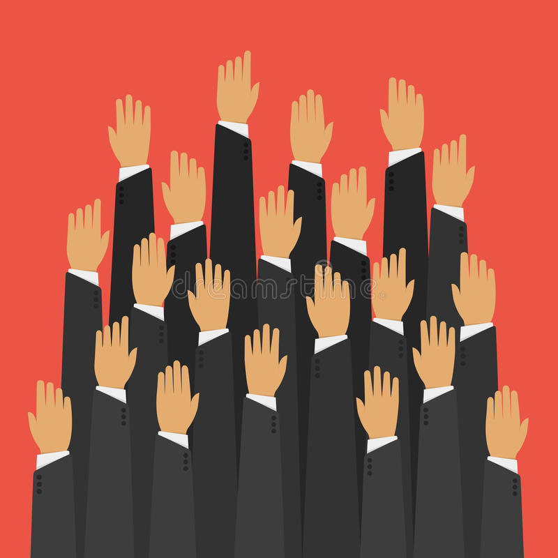 Podnosić up ręki royalty ilustracja