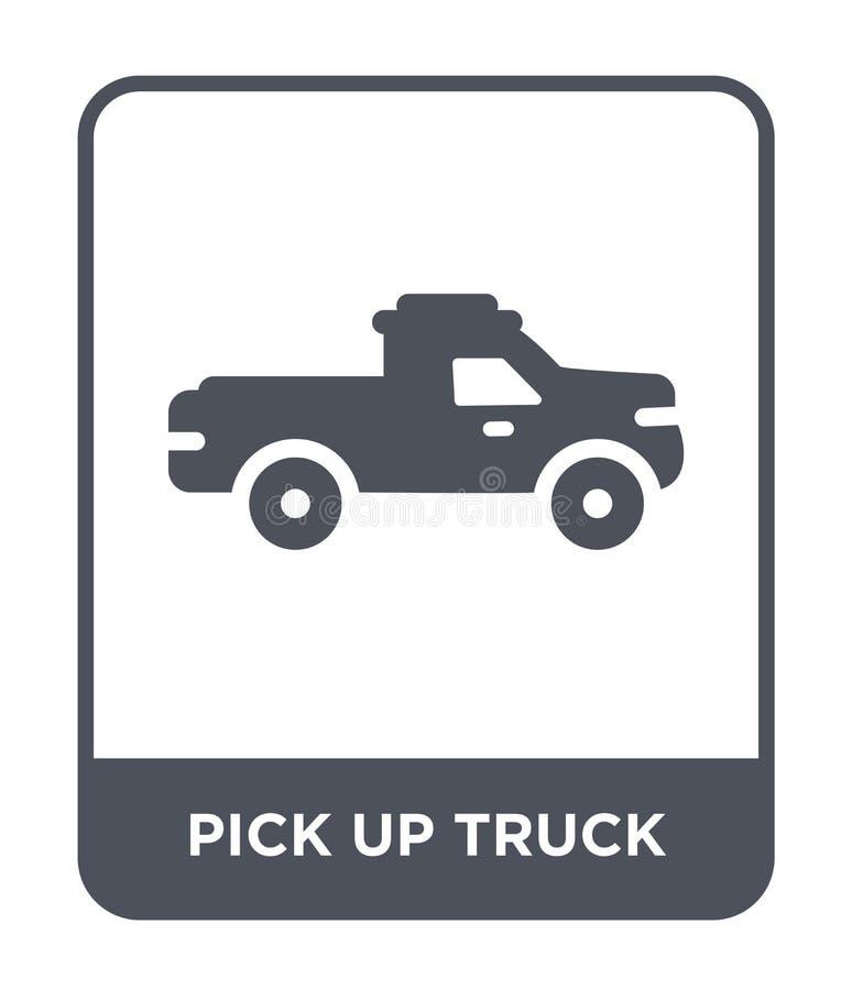 podnosi w górę ciężarowej ikony w modnym projekta stylu podnosi w górę ciężarowej ikony odizolowywającej na białym tle podnosi w  ilustracja wektor