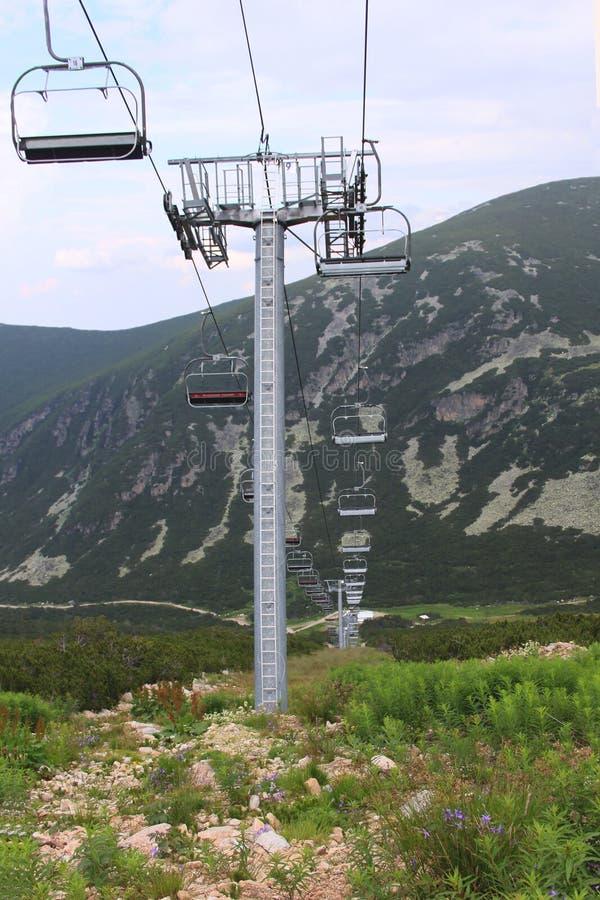 podnosimy ski pusta zdjęcie royalty free