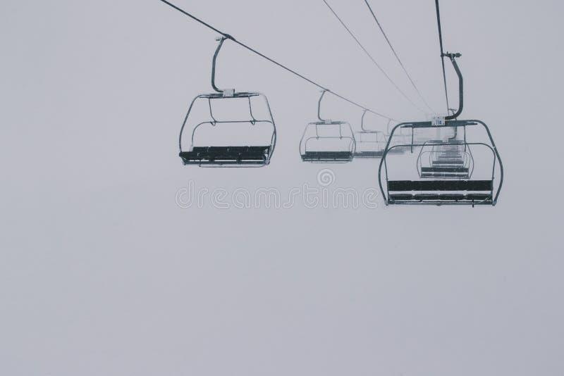 podnosimy ski pusta fotografia royalty free