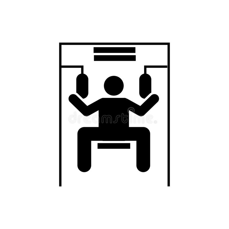 Podnoszący, mężczyzna, gym, sport, sprawności fizycznej ikona Element gym piktogram Premii ilo?ci graficznego projekta ikona podp ilustracji