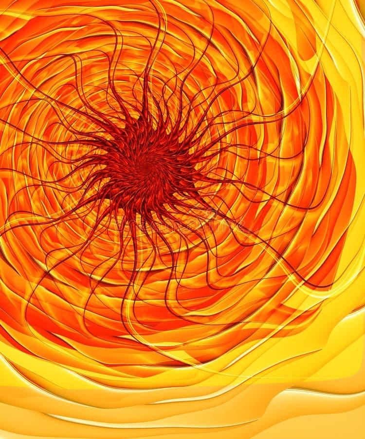 podobieństwo fractal inferno słoneczna ilustracja wektor