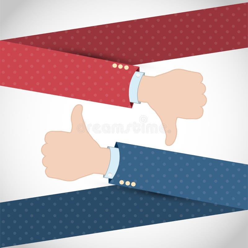 Podobny niechęci ręki sztandar royalty ilustracja