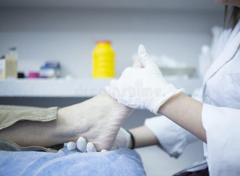 Podology podologist chiropody traktowania klinika obraz stock