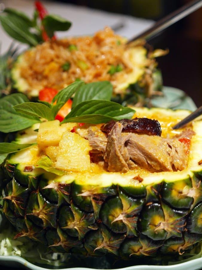 podpalający ananasowi ryż zdjęcia stock