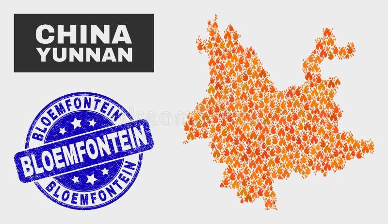 Podpalający cierpienia Bloemfontein Watermark i ilustracji