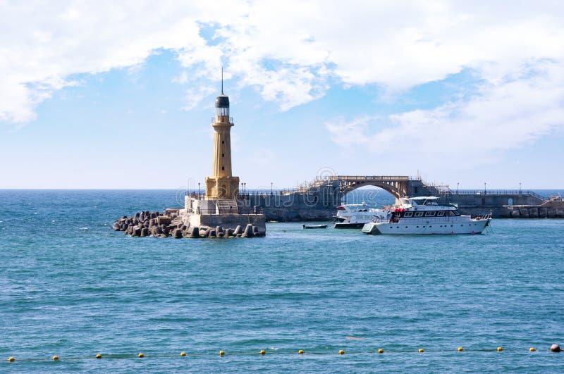podpalana bridżowa latarnia morska obrazy royalty free