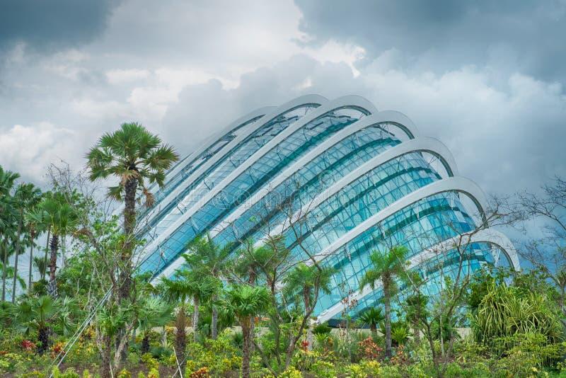 podpalana klauzura uprawia ogródek szklanego Singapore obrazy stock