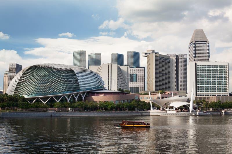 podpalani esplanady Singapore theatres obraz stock
