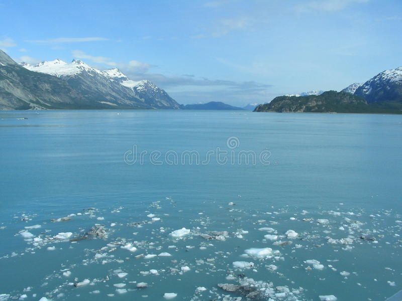 podpalany Alaska lodowiec fotografia stock
