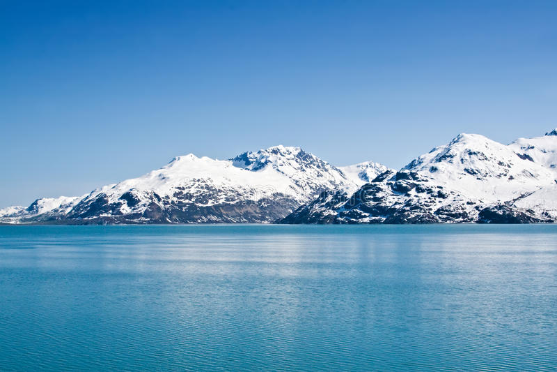 podpalany Alaska lodowiec obrazy stock