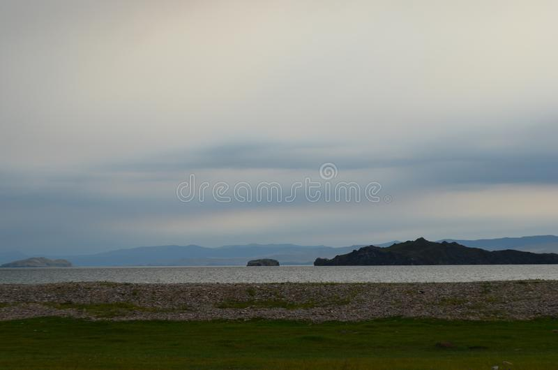 podpalany Baikal jezioro zdjęcie royalty free