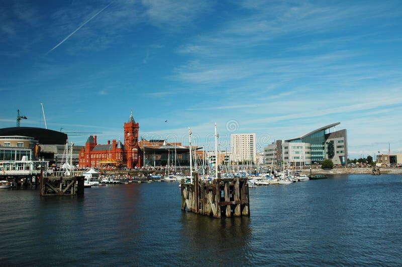 podpalany Cardiff zdjęcia stock