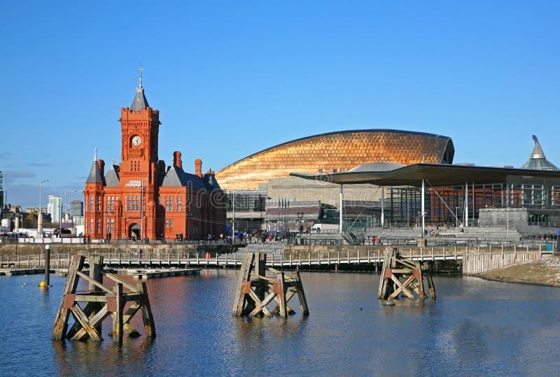 podpalany Cardiff obrazy royalty free