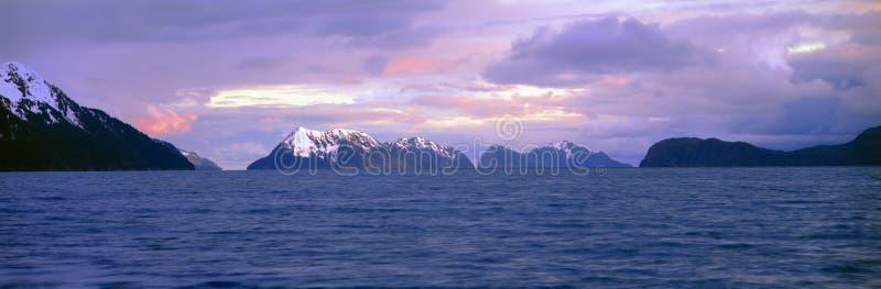 podpalany fjords kenai park narodowy wskrzeszanie fotografia royalty free