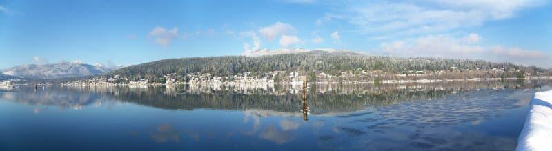 podpalany markotny panoramiczny port zdjęcia royalty free