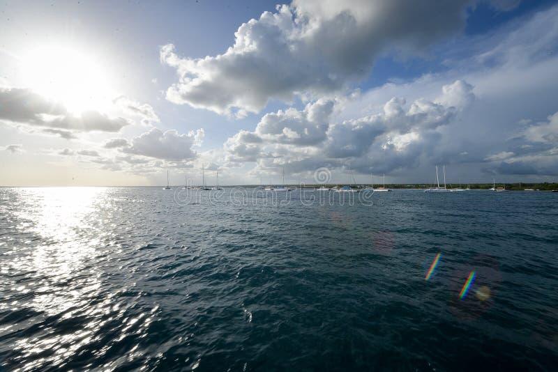 podpalany morze karaibskie fotografia stock